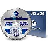 FALKENWALD ® Kreissägeblatt 315 x 30 mm - Ideal für Holz, Metall & Alu - kompatibel mit Gehrungssäge & Tischkreissäge von METABO & ATIKA - Universal Sägeblatt aus hochwertigem Hartmetall