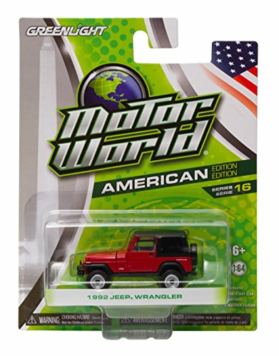 1992 JEEP WRANGLER Motor World Series 16 American Edition 1:64 Scale 2016 Greenlight Collectibles Die-Cast Vehicle