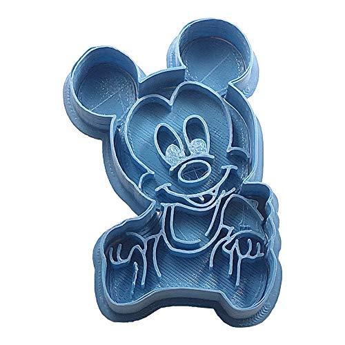 Cuticuter Mickey Disney Ausstechform trinkt, blau, 8x 7x 1.5cm