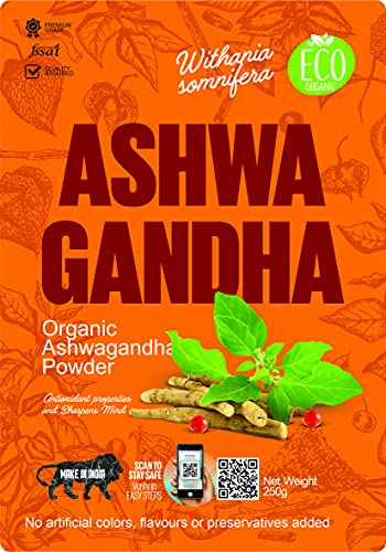 Ashwagandha Powder- Withania Somnifera-250g Organic Ayurvedic Herbal Supplement That Promotes Vitality & Strength – Support for Stress-free Living