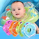 Baby Swimming Neck Float,Infant Inflatable Neck Float Ring for Bath Swimming,kids' First Swim Floaties Bathtub Toys Pool Accessories For Baby 0-12 Months (bule)