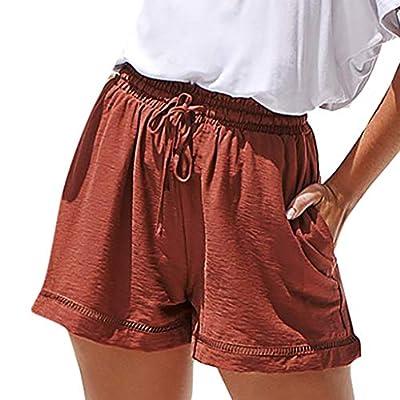 RAINED-Women Casual Yoga Shorts Running Workout Sports Fitness Short Pants Elastic Waist Summer Beach Shorts