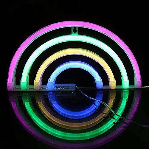 Bipily Rainbow luz de neón Señales luminosas LED Arco iris señales de neón Iluminación de ambiente vistoso Arco iris Iluminación de interior decoración para, bar, reunirse, navideña-Rainbow