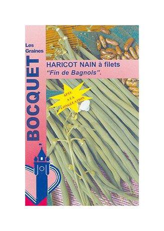 Les Graines Bocquet - Graines De Haricot Nain À Filet Fin De Bagnols 120G - Graines Potagères À Semer - Sachet De 120Grammes
