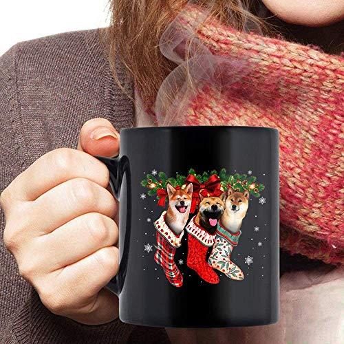 Taza té cerámica uso prolongado Akita Christmas Calcetines Perro Akita Christmas Taza bebida café Regalo