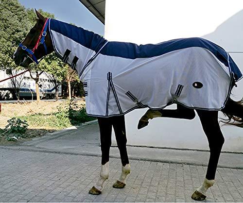 Wyujie Fliegendecke Mit Halsteil Decke Mit Halsteil Abschwitzdecken Fur Pferde Ekzemerdecke Ekzemer Halsteil,150cm