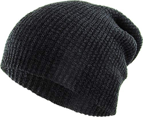 KBW-10 BLK Comfortable Soft Slouchy Beanie Collection Winter Ski Baggy Hat Unisex Various Styles