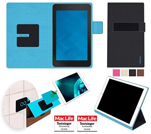 reboon Hülle für Dell Venue 7 Tasche Cover Hülle Bumper | Testsieger | Schwarz