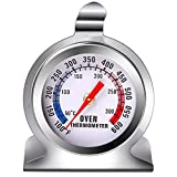 URATOT 1 Pieces Kitchen Oven Thermometer Oven Grill Fry Chef Smoker Thermometer Stainless Steel Thermometer Kitchen Cooking Dial Oven Thermometer for Home Kitchen
