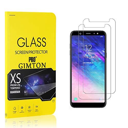 GIMTON Displayschutzfolie für Galaxy A6 Plus, 9H Härte, Anti Bläschen Displayschutz Schutzfolie für Samsung Galaxy A6 Plus, Einfach Installieren, 2 Stück