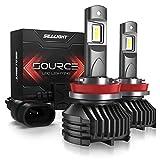 SEALIGHT H11 LED Headlight Bulbs, H8 H9 LED Headlight Bulb, Low Beam, 12,000 Lumens High Brightness, 6000K Cool White, S3 Series
