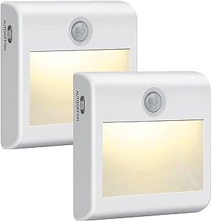 Veilleuse LED Automatique [Lot de 2], Lampe de Placard avec Détecteur Mouvement et Adhésive, Veilleuse Enfant pour Penderi...