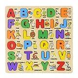 Toyvian 1 Unidades de Madera Peg Puzzles Número Alfabeto Palabras 3D Rompecabezas Juguetes Educación Juguetes de Aprendizaje para niños pequeños Bebé niños