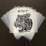 8 ½'x11' Waterproof Inkjet Transparency Film Paper 100 Sheets Silk Screen Printing Inkjet Film Paper