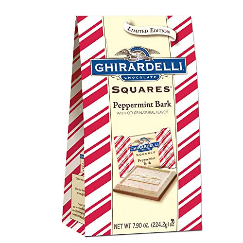 Ghirardelli Peppermint Bark Milk and White Chocolate Squares – 7.90 oz. (224.2g)
