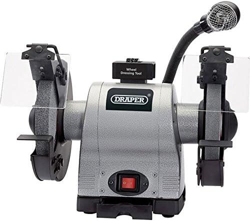 Draper 150mm 370W 230V bench grinder avec ponçage ceinture et rechargeable 05096