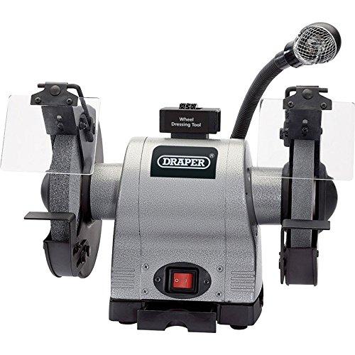Draper 05097 200mm 550W 230V Heavy Duty Bench Grinder with Worklight