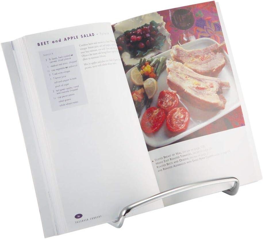 mDesign Decorative Metal Tablet, Cookbook Recipe Holder, Picture