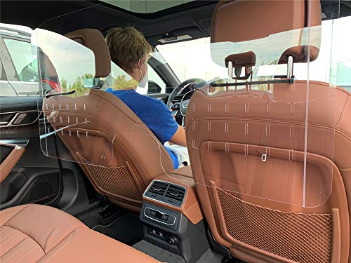 Car Sneeze Guard - For Taxis, SUVs, Ride-sharing Cars -Made in USA - 44 x 21-5/8 inches