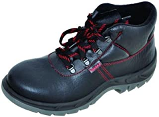 Karam Leather Safety Shoes FS-21 Ankle Protection - Size 7, Black