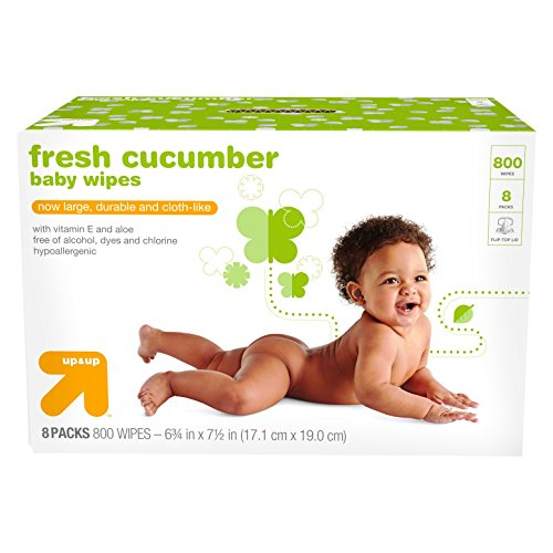 Fresh Cucumber Cloth-like Baby Wipes - 8pk/800ct Total - Up&Up™