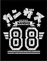 【FOX REPUBLIC】【カンザス アメリカ ロゴ】 黒マット紙(フレーム無し)A2サイズ