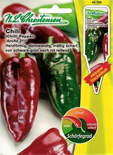 Chrestensen Gewürzpaprika / Chili 'Ancho 211' Saatgut Samen