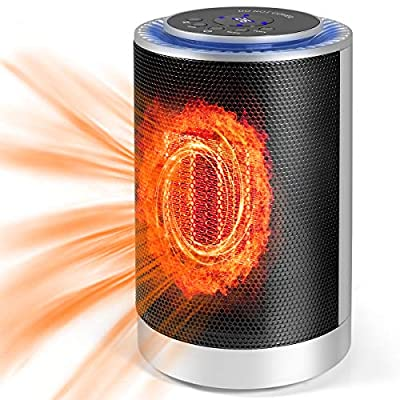 Portable Space Heater, Adjustable Thermostat Heater Corded Electric Space Heater for Indoor/Office, Automatically Turn Heater