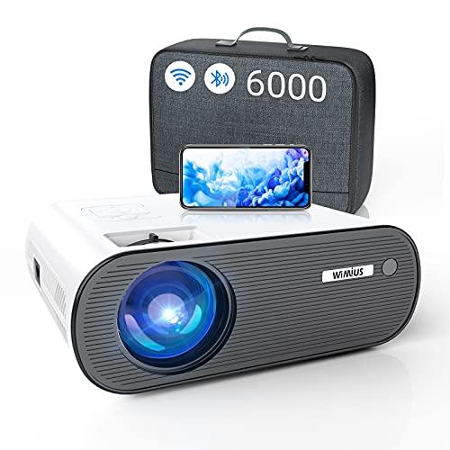 WiFi Projector Bluetooth, WiMiUS 6000L Mini Projector Support 1080P&200