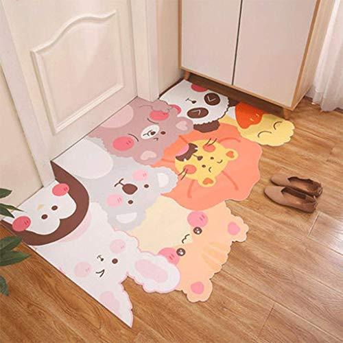 YAMMY Los tapetes de fregado de Moda se Pueden Cortar Tapetes de Puerta de PVC para el hogar Puerta de Entrada Tapete desechable Antideslizante Impermeable (Color: G, Tamaño: 90 * 140)