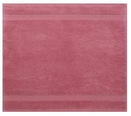 Betz Serviette débarbouillette Lavette Taille 30 x 30 cm 100% Coton Premium Couleur Vieux Rose