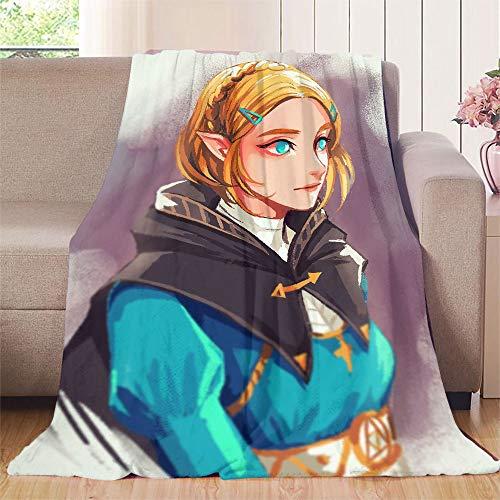 Elliot Dorothy Legends of Zelda Breath of the Wild Daruk Game Anime Beauty Girl estante para cama, sofa, silla de viaje, microfibra, colorido, 60\x80\(W152cmxL203cm)
