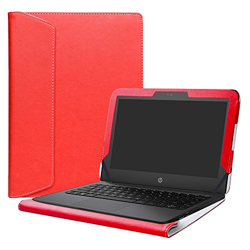 Alapmk Protective Case Cover for 11.6' HP Stream 11 Pro G5/G4/G3/G2/G1/11-ahXXX/11-rXXX/11-dXXX/11-yXXX Series Laptop(Warning:Not fit HP Stream x360 11),Red