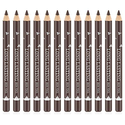 Ownest 12 Pcs Crayon À Sourcils Eyeliner Set, Eyeliner Gel Gel Crayon À Sourcils Longue Durée Eyeliner Professionnel Maquillage Des Yeux Stylo-Marron