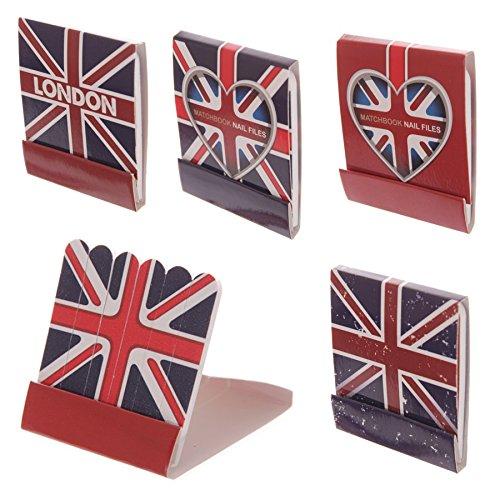 LONDON Lot de 4 Pochettes de mini limes à ongles