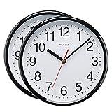 Plumeet 25 cm Reloj de Cuarzo de Pared silencioso, Decorativo para el hogar/la Cocina/la Oficina/la...