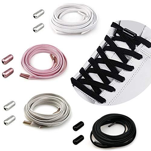 Elastische Schnürsenkel Ohne Binden | Premium Elastische Schnürsenkel mit Metallkapsel für Sneaker/Gummischnürsenkel Einstellbare mit Schnellverschluss, No Tie Schnürsenkel Nie mehr Schuhe binden
