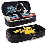Pokemon Pikachu - Estuche para lápices con estampado casual, bolsa de almacenamiento para niños y niñas, unisex