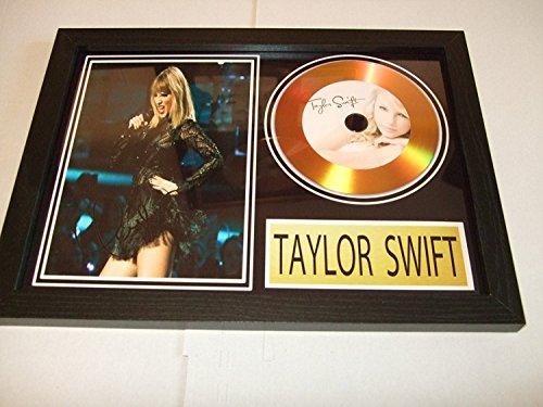 Taylor Swift Goldene Schallplatte, signiert