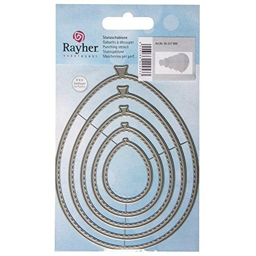Rayher Hobby 59237000 Stanssjablonenset, Nesting Ballons, 5 stuks, 9,5 x 12 cm