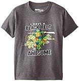 Teenage Mutant Ninja Turtles Big Boys' Short Sleeve T-Shirt Shirt, Charcoal Heather, 10/12