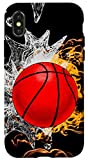 iPhone X/XS Basketball Ice Flaming Fire Cool Ball Sport Player Team Gift Case