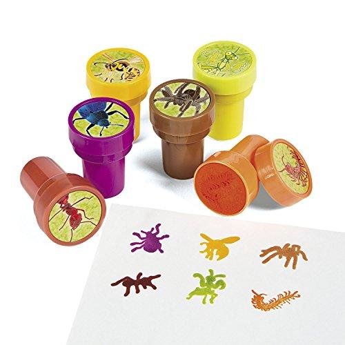 cama24com Kinderstempel Insekten Spinne Ameise Käfer mit 6 verschiedenen Motiven Palandi®