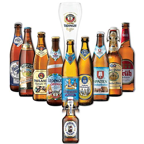 Oktoberfest German Craft Beer 2019 Limited Edition Mixed Case Gift Set With Erdinger Glass (10 Pack)