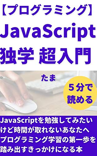 【プログラミング】JavaScript独学 超入門: JavaScriptを勉強してみたいけど時間が取れないあなたへ プログラミング副業で稼ぐシリーズ