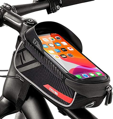 Bike Phone Frame Bag, Rifny Waterproof Bike Phone...