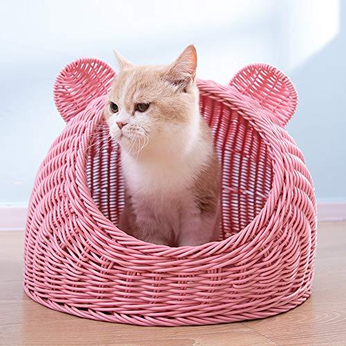 TIANPIN huisdier Nest - huisdier huis rotan zomer kattenstrooi kat levert kat bed kat mat slaapzak vier seizoenen universeel
