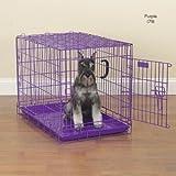 Pro Select Steel/Plastic Fold-Down Dog Crate, Medium, 30-Inch, Blue