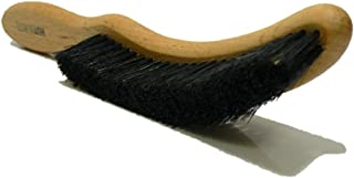 Valentino Garemi Traditional Hat Cleaning Brush | Remove Dust, Dry Stains, Rain Spots, Sweat Marks, Pet or Human Hair | Genuine Boar Hair Made in Germany (Black Bristles)