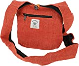GURU SHOP Pequeño Bolso de Hombro, Bolso de Mano - Naranja Oxidado, Unisex - Adultos, Elcáñamo, Tama�o:One Size, 20x25 cm, Bolsas de Hombro